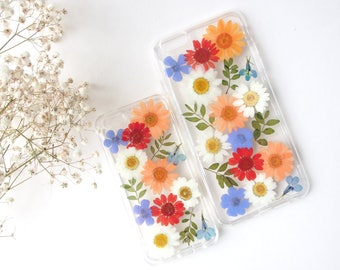 Pressed Flower iPhone Case from Spring in Eden- Boho Style/ Gifts for her/ Spring/ Summer/ Colourful