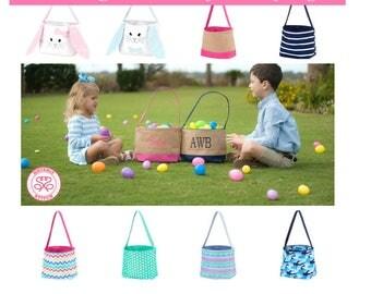 Monogrammed Easter Basket/ Monogram Easter Bucket/ Personalized Easter Bucket/Monogram Easter Basket