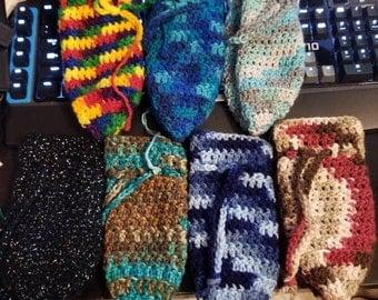 Custom Crochet Drawstring Dice Bag