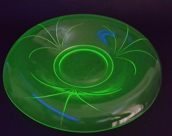 NEW LISTING Rare Art Deco Uranium Green Walther Float Bowl for the Orla Centrepiece Figure