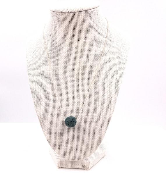 Essential Oil diffuser necklace, Aqua lava bead, diffuse Necklace, Girlfriend Gift, lava bead necklace, diffuser necklace, minimalist lava