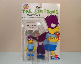 Vintage 1990 The Simpsons Bartman Bart Simpson Action Figure New In Package