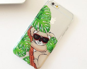 iPhone 7 Case Palm Leaf, iPhone 7 Plus Case, iPhone 6 Case, iPhone 6S Case, Phone Case For iPhone, Birthday Gifts For Her, Tech Gifts -KT232