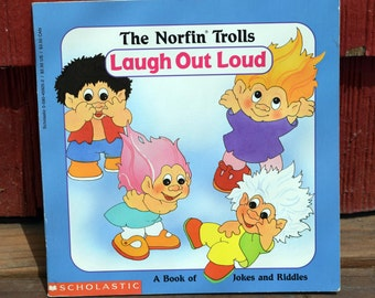 The Norfin Trolls/Laugh Out Loud/A Book of Jokes and Riddles/Scholastic/Beth Goodman/Cathy Beylon/Childrens' Paperback Joke Book/Troll Book