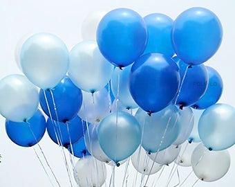 Blue Ombre Balloon Set | Blue Party Balloons | Blue Event Balloons | Blue Party Theme Balloons | Blue Decoration | Set of 12
