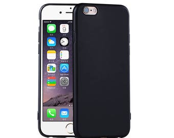 Luxury iPhone Case Solid Black Matte Color Soft Silicone Rubber Case Cover for iPhone 7 iPhone 7 Plus iPhone 5 5s 6 6s 6 Plus 6s Plus Slim