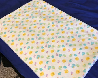 Fleece Duck Pattern Pillowcase