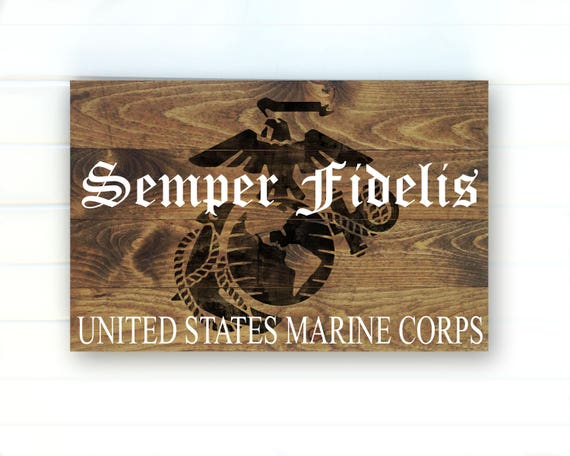 Vintage Gear Wall Decor : Us marine corps rustic wood sign marines wall art usmc