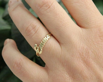 Dainty Name Ring-Thin Ring-Jewelry-Gold Name Jewelry-Bridesmaid Gift-Personalized Gift-Personalized-Gift-Rings-Custom Ring-Personalized Gift