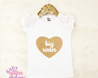 Big Sister Shirt, Siblings Shirt, Big Sister Little Sister, Big Sis Little Sis, Baby Girl Shirt, Big Sis Sparkle Shirt