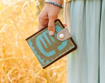 Vegan Wallet, Fabric Wallet, Men Wallet, Unique Wallet, Bifold Wallet, Wallet For Men, Gift For Men, Slim Wallet, Boyfriend Gift, Wallet Men
