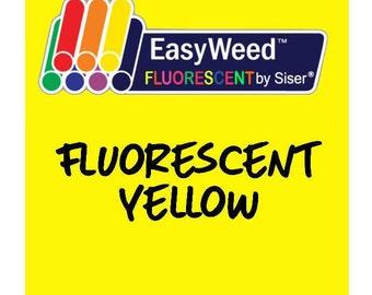 Siser EasyWeed Fluorescent Heat Transfer Vinyl - HTV - Fluorescent Yellow