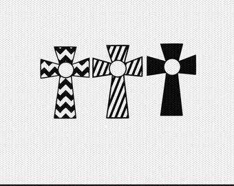 chevron cross svg dxf file instant download stencil silhouette cameo cricut clip art religious christian monogram frame commercial use