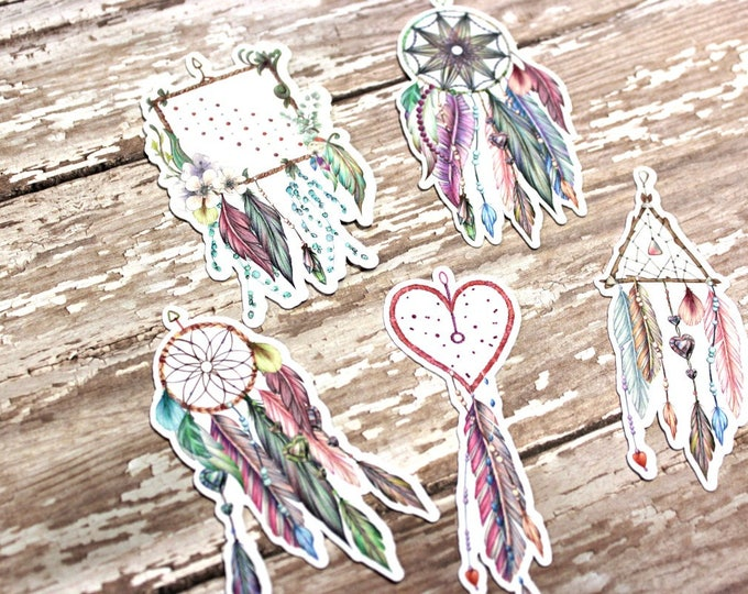 Planner Die Cuts - Die Cut Set - Dreamcatcher Die Cuts - Purple Dreamcatcher Die Cut Set - Feather Die Cuts - Native Dreamcatcher die cuts
