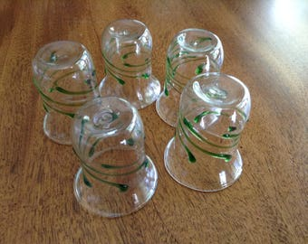 Hand Blown Mini Shot Glasses