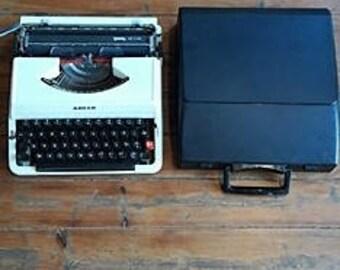 Vintage Rare Adler Tessy De Luxe Typewriter