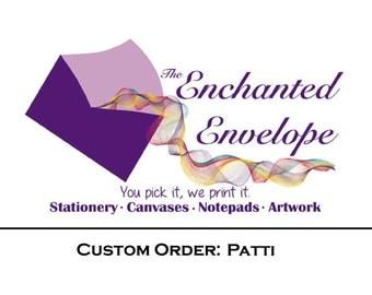 CUSTOM LISTING: Patti, Sympathy Acknowledgement Cards, Inside Printing, Additional Printing, Verse Inside Cards