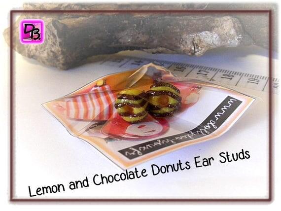 Puces Donuts Chocolat Citron
