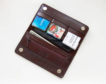 Leather wallet Duo Brown