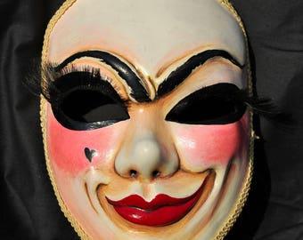 Carnival mask Columbine. Venetian masquerade mask.
