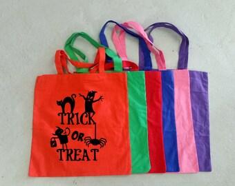 Halloween Tote Bag - Trick or Treat Bag - Pumpkin Tote - Halloween Candy Bag - Trick or Treat Tote - Pumpkin Tote