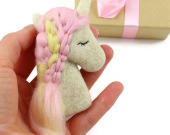 Unicorn Brooch, Pink Unicorn Brooch, Unicorn Jewellery, Unicorn Lovers, Unicorn Gifts, Birthday Girl Gift, Pink and Yellow Brooch, Unicorn