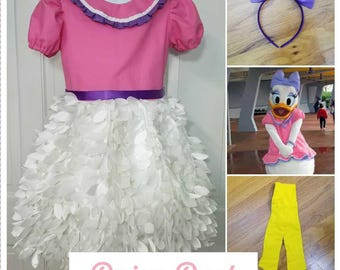 Daisy Duck Costume, Daisy Duck Birthday, Daisy Duck Halloween Costume, Disney Daisy Duck, Pink Daisy Duck, Daisy Duck Dress up