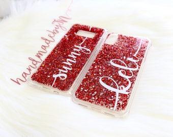 Ruby glitter Phone case iPhone 7 case iPhone 7 Plus case iPhone 6S case iPhone 6S Plus case iPhone 8 case iPhone 8 Plus case iPhone x case