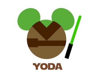 Personalized Yoda Star Wars Mickey Mouse Matching Family Husband Dad Son Boyfriend Vacation Disney Iron On Decal Vinyl for Shirt 042