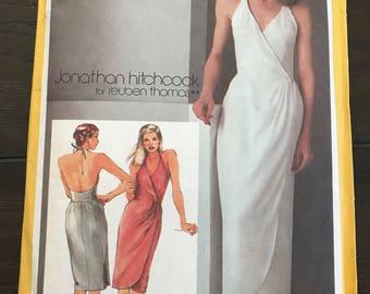 1980's Wrap Halter Dress