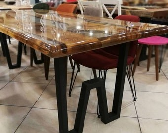 28Hx20W Gold Table Legs Brass Plated Dining Table