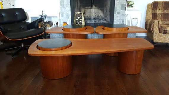 rs associates teak coffee table and