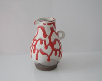 Amazing Vase Kellinghusen, Fat Lava - West German Pottery WGP HK von Trenck
