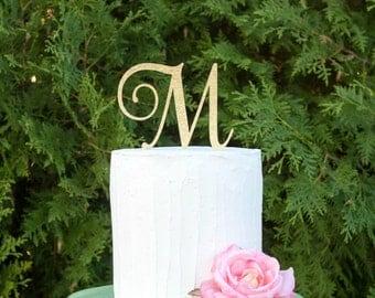 monogram cake topper initial cake topper single letter cake topper wedding cake topper