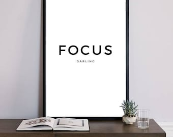 Focus Print, Focus Printable, Office Decor, Office Sign, Office Art, Office Quotes, Focus Poster, Focus Wall Art, Wall Prints, Best Sellers