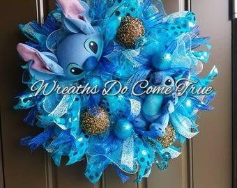 Stitch Deco Mesh Wreath