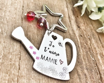 Mamie Keychain, Cadeau Mamie, Mamie Gift, Watering Can Keychain