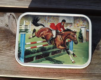 Boite cheval tole blue bird tin hunnington. Harry Vincent.  Old tin box. Vintage. GB