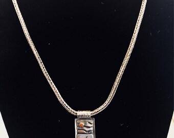 Fine Silver silver Viking necklace