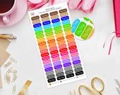 Rainbow Pay day Month Label Planner Stickers, Personal Size, Erin Condren Life Planner, TN, Happy Planner, Kikki K, Foxy Fix, Money, payday