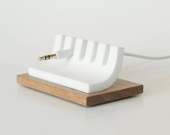 Cable Organizer, Oak Desk Cord Holder, Cable Tidy, Cable Management, USB Cable, Wood Desk Organizer, Maple, Corian, Solid Surface, Cord