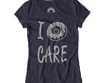 DOUGHNUT CARE SHIRT I really donut care shirt Funny womens careless shirt Bed hair shirt Food pun shirt Stay in bed shirt Couch shirt APV13