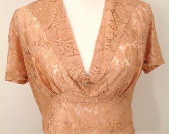 Pretty 1930s lace blouse original vintage antique Art Deco flapper
