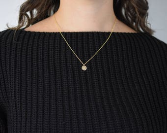 Gold Filled Initial Necklace, Gold Initial Necklace, Gold Disc Necklace, Gold Letter Necklace, Gold Personalised Necklace