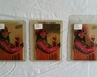 3 action packed promo #1 wrestling collector trading cards 1994 macho man randy savage - prototype wrestler collectible wwf wwe wcw awa nwa