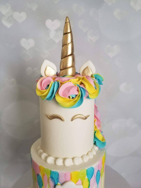 unicorn cake topper gold unicorn cake topper set 8165