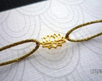 BRACELET * lotus * gold thread