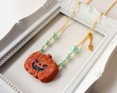 Cookie Kawaii Pumpink Sweet Lolita necklace Halloween spoon