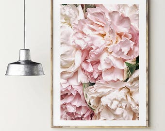 Peonies poster. Flowers poster. Peonies photography. Instant download