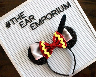 Dumbo the Flying Elephant Inspired Mouse Ears Headband ~ Black Feather Timothy Mouse